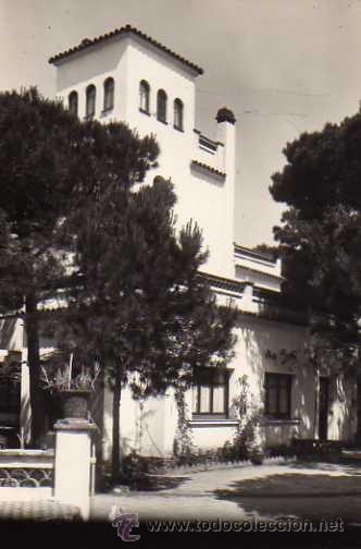PENSIÓN RESIDENCIA ROLKE CASTELLDEFELS BARCELONA FOTOGRAFÍA ROVERETO SIN CIRCULAR (Postales - Postales Temáticas - Hoteles y Balnearios)