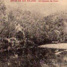 Postales: AGUAS DE SAN HILARIO ALREDEDORES DEL HOTEL HOTEL MARTÍN SAN HILARIO SACALM. Lote 50303518