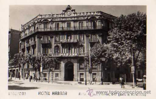 BARCELONA HOTEL HABANA AVDA. JOSÉ ANTONIO 647 JUNTO AL HOTEL RITZ SIN CIRCULAR (Postales - Postales Temáticas - Hoteles y Balnearios)