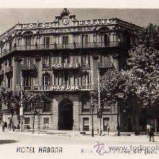 Postales: BARCELONA HOTEL HABANA AVDA. JOSÉ ANTONIO 647 JUNTO AL HOTEL RITZ SIN CIRCULAR . Lote 50517119