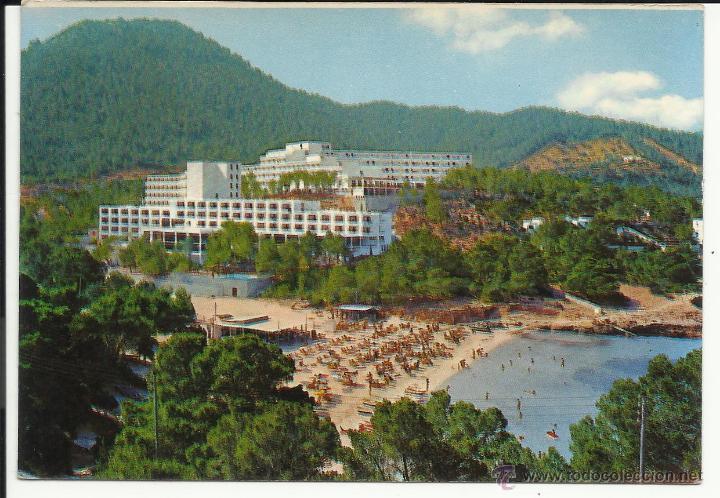 POSTAL HOTEL GRECO Y PRESIDENTE PLAYA PORTINATX IBIZA (Postales - Postales Temáticas - Hoteles y Balnearios)