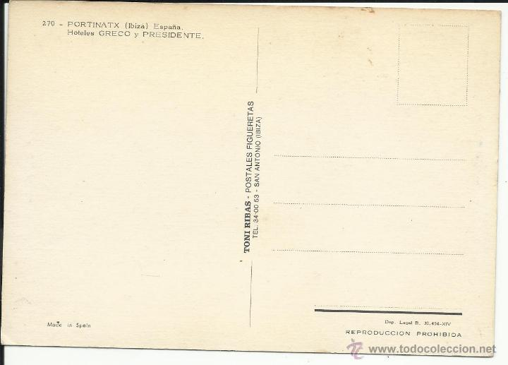 Postales: postal Hotel greco y Presidente playa Portinatx Ibiza - Foto 2 - 51723602