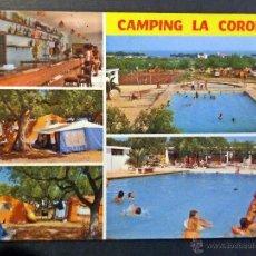 Postales: CAMPING LA CORONA, CANBRILS (TARRAGONA). POSTAL CIRCULADA. Lote 53044918
