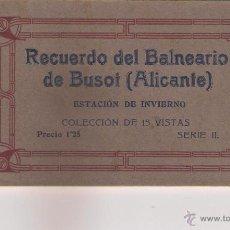 Postales: BLOCK DE 14 POSTALES DE RECUERDO DEL BALNEARIO DE BUSOL,ESTACIÓN DE INVIERNO SERIE II .. Lote 54393071