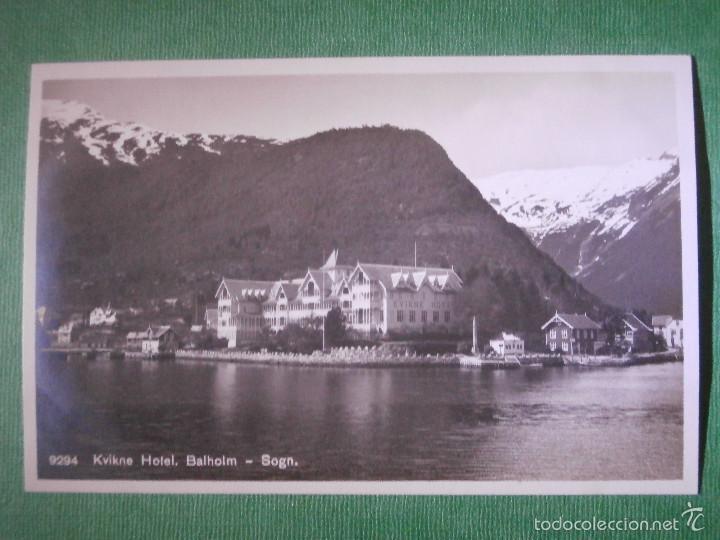 POSTAL - EUROPA - NORUEGA - KVIKNES HOTEL BALHOLM, SOGN - ENERET CARL NORMANNS - KUNSTFORLAG, HAMAR (Postales - Postales Temáticas - Hoteles y Balnearios)