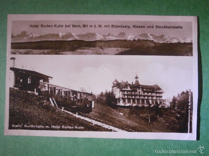 POSTAL - EUROPA - SUIZA - BERN - BERNA - HOTEL GURTEN-KULM - ELEKTR. GURTENBAHN M. - ESCRITA EN 1926 (Postales - Postales Temáticas - Hoteles y Balnearios)