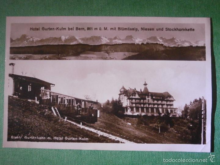 Postales: POSTAL - EUROPA - Suiza - Bern - Berna - Hotel Gurten-Kulm - Elektr. Gurtenbahn m. - Escrita en 1926 - Foto 2 - 56473589