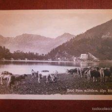 Postales: POSTAL - EUROPA - SUIZA - HOTEL PIORA ALPE RITOM - A. BORELLI - NUEVA - AÑOS 20. Lote 56602736