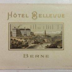 Postales: HOTEL BELLEVUE BERNE. . Lote 57946399