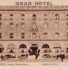 Postales: ANTIGUA POSTAL SALAMANCA CIUDAD MONUMENTAL GRAN HOTEL EXTERIOR CLICHE ANSEDE Y JUANES. Lote 58285029