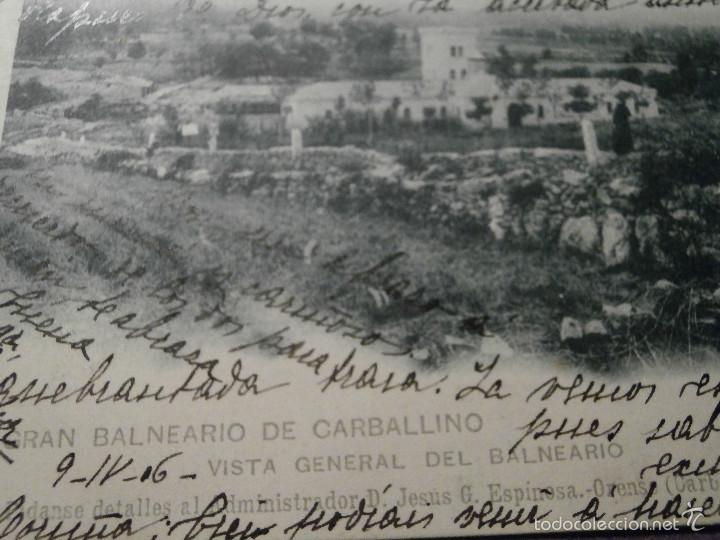 Postales: POSTAL - ESPAÑA - ORENSE - GRAN BALNEARIO DE CARBALLINO - VISTA GENERAL - HAUSER Y MENET - AÑO 1906 - Foto 2 - 61220055