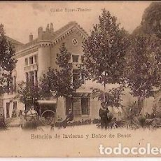 Postales: ANTIGUA POSTAL CHALET TORRE THADOR ESTACION DE INVIERNO Y BAÑOS DE BUSOT. Lote 61798648