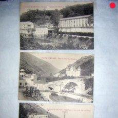 Postales: COLECCIÓN DE 3 POSTALES CALDAS DE BESAYA, ANTIGUAS 1ºS, DEL XX. Lote 63156592