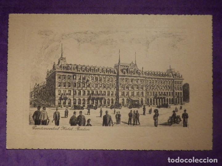 POSTAL - CONTINENTAL HOTEL - BERLIN - LOUIS ADLON - SIN ESCRIBIR - (Postales - Postales Temáticas - Hoteles y Balnearios)