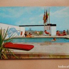 Postales: BARCELONA, PISCINA EN LA TERRAZA DEL HOTEL MAJESTIC, SIN CIRCULAR. Lote 69737073