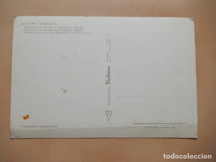 Postales: BARCELONA, PISCINA EN LA TERRAZA DEL HOTEL MAJESTIC, SIN CIRCULAR - Foto 2 - 69737073