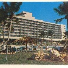 Postales: POSTAL VINTAGE. HOTEL SAN JUAN INTERCONTINENTAL, PUERTO RICO. CIRCULADA CON SELLO. MATASELLOS 1958.. Lote 70585105