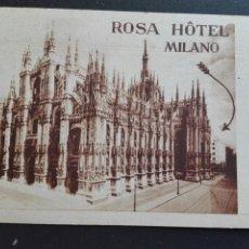 Postales: ROSA HOTEL MILANO CASA SUIZA. Lote 71533486