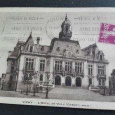 Postales: VICHY L'HOTEL DE VILLE. Lote 71536050