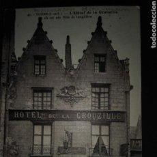 Postales: HOTEL DE LA CROUZILE TOURS. Lote 71558818
