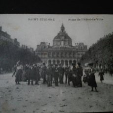 Postales: SAINT ETTIENNE PLAZA DEL HOTEL DE VILLE. Lote 71559127