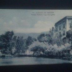 Postales: POSTAL ZARAGOZA BALNEARIO ALHAMA DE ARAGÓN TERMAS PALLARÉS LAGO. Lote 71813686