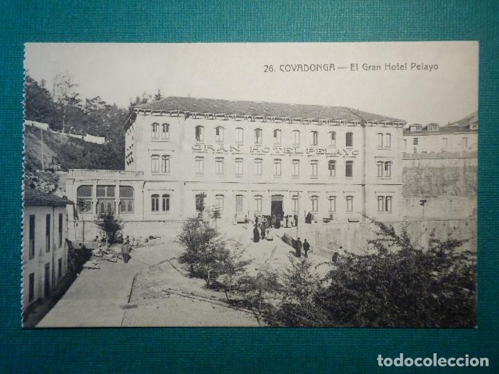 POSTAL - ESPAÑA - ASTURIAS - 26 COVADONGA - EL GRAN HOTEL PELAYO - COLEC. V. ERO - NC - NE AÑO 1915 (Postales - Postales Temáticas - Hoteles y Balnearios)