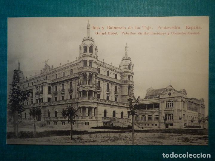 POSTAL - PONTEVEDRA ISLA Y BALNEARIO DE LA TOJA - GRAND HOTEL,PABELLON HABITACIONES Y COMEDOR-CASINO (Postales - Postales Temáticas - Hoteles y Balnearios)