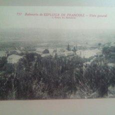 Postales: POSTAL TARRAGONA BALNEARIO ESPLUGA DE FRANCOLÍ. Lote 72169171