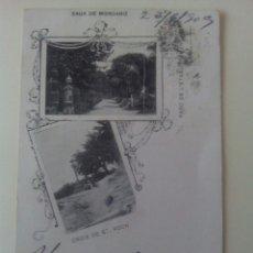Postales: POSTAL PONTEVEDRA EUX DE MONDARIZ CROIX DE ST. ROCH Y PARC DE L'ESTABLISSIMENT. Lote 72303579