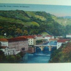 Postales: POSTAL GUIPUZCUA CESTONA RÍO UROLA Y HOTELES DEL BALNEARIO. Lote 72338357
