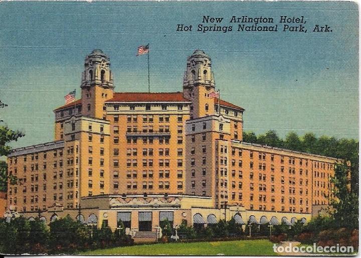 ** AC794 - PEQUEÑA POSTAL - NEW ARLINGTON HOTEL - HOT SPING NATIONAL PARK - ARK.- RF. FA0 (Postales - Postales Temáticas - Hoteles y Balnearios)