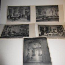 Postales: CINCO POSTALES HOTEL RONCERAY PARIS SIN CIRCULAR. Lote 73850659