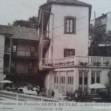 Postales: POSTAL PENSIONDE FAMILE GESTA - BEYLAC. LOURDES. Lote 81050084