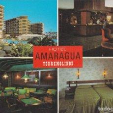 Postales: POSTAL HOTEL AMARAGUA. COSTA DEL SOL - TORREMOLINOS (MALAGA). Lote 89460500
