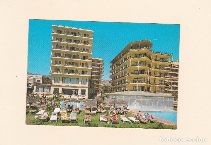 Postales: POSTAL HOTEL AMARAGUA Y HOTEL JORGE V. COSTA DEL SOL - TORREMOLINOS (MALAGA) - Foto 2 - 89460584