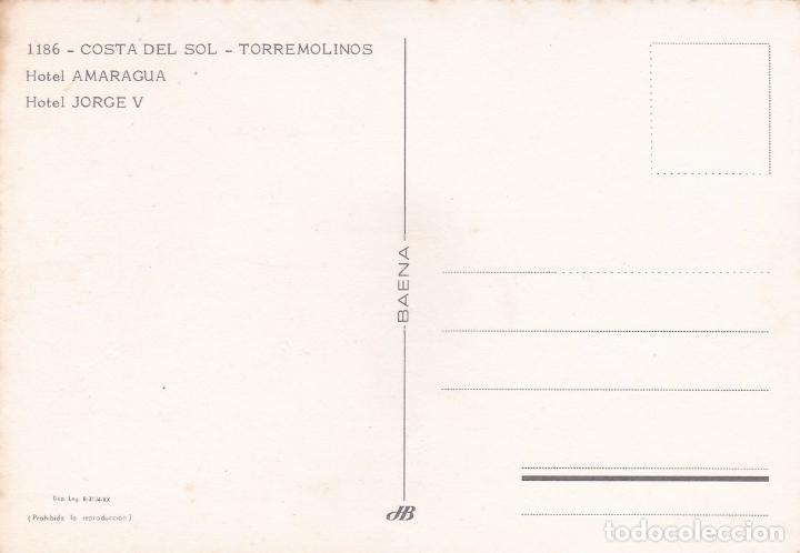 Postales: POSTAL HOTEL AMARAGUA Y HOTEL JORGE V. COSTA DEL SOL - TORREMOLINOS (MALAGA) - Foto 3 - 89460584