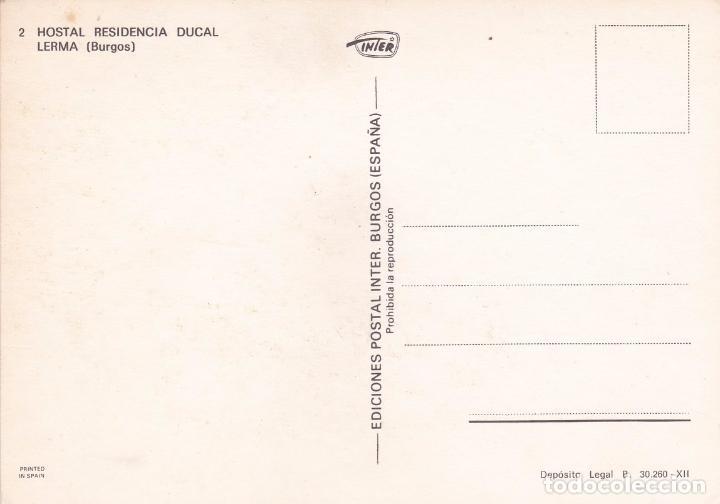 Postales: POSTAL HOSTAL RESIDENCIA DUCAL. LERMA (BURGOS) - Foto 3 - 89460976
