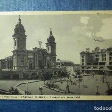 Postales: ´POSTAL - HOTELES - CATEDRAL Y HOTEL VENUS - SANTIAGO DE CUBA - EDICION RENACIMIENTO - Nº 5. Lote 90543430
