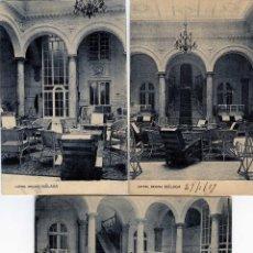 Postales: TRES POSTALES DE MALAGA=HOTEL REGINA=EDITADA POR FOTOTIPIA HAUSER Y MENET-MADRID .. Lote 94875035