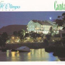 Postales: POSTAL PUBLICITARIA HOTEL OLIMPO. ISLA (CANTABRIA) - MAPA CANTABRIA EN EL REVERSO. Lote 95552631