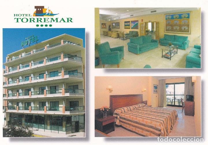 POSTAL PUBLICITARIA HOTEL TORREMAR. TORRE DEL MAR (MALAGA) (Postales - Postales Temáticas - Hoteles y Balnearios)