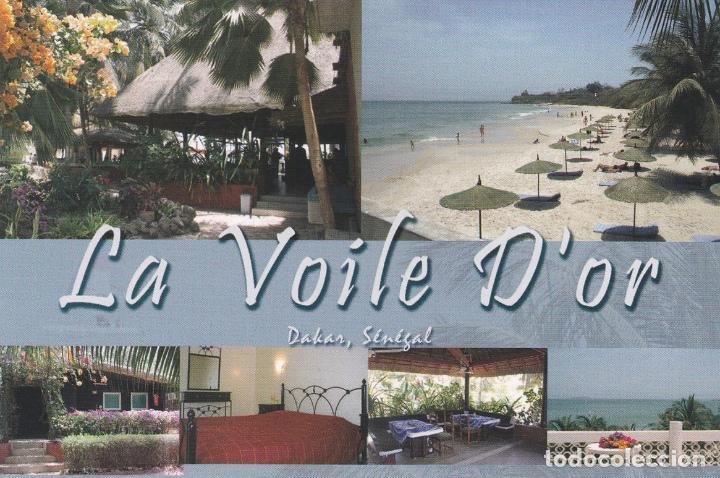 POSTAL PUBLICITARIA HOTEL LA VOILE D'OR. DAKAR. SENEGAL (Postales - Postales Temáticas - Hoteles y Balnearios)