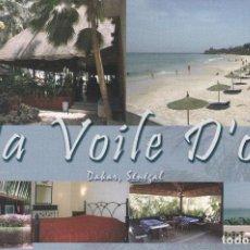 Postales: POSTAL PUBLICITARIA HOTEL LA VOILE D'OR. DAKAR. SENEGAL. Lote 95617875