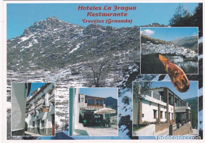 POSTAL PUBLICITARIA HOTELES LA FRAGUA. TREVELEZ. GRANADA (Postales - Postales Temáticas - Hoteles y Balnearios)