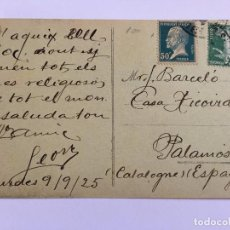 Postales: ANTIGUA POSTAL ORIGINAL CIRCULADA SELLO Y MATASELLO P.P.S.XX FRANCIA HOTEL MODERNE. Lote 96914647