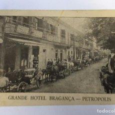 Postales: RM400 ANTIGUA TARJETA POSTAL ORIGINAL P.P.S.XX 1905 GRANDE HOTEL BRAGANCA - PETROPOLIS COCHE CABALLO. Lote 96965851