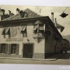 Postales: RM400 ANTIGUA POSTAL CIRCULADA SELLO MATASELLO ALBERGUE HOTEL FOSSA DEI LEONI. Lote 96984983