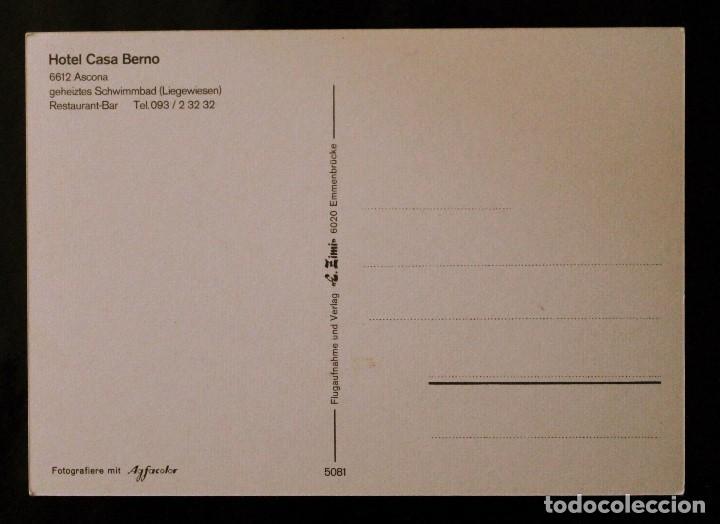 Postales: Postal Hotel Casa Berno. Ascona (Suiza) - Foto 2 - 99819039