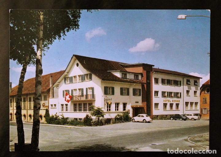 POSTAL HOTEL-RESTAURANT SONNE - LUCERNA (SUIZA) (Postales - Postales Temáticas - Hoteles y Balnearios)